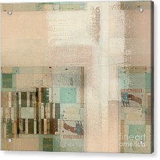 Acrylic Print featuring the digital art Abstractitude - C01b by Variance Collections