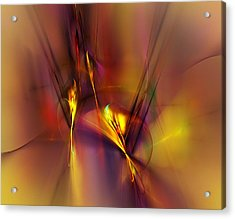 Abstracts Gold And Red 060512 Acrylic Print