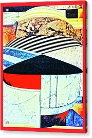 Abstracts On Red Acrylic Print by Bruce Iorio