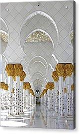 Abu Dhabi Mosque Acrylic Print