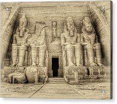 Abu Simbel Antiqued Acrylic Print