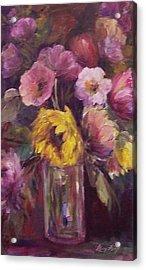 Abundance- Floral Painting Acrylic Print