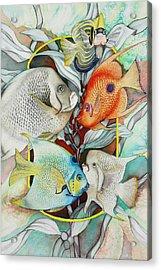 Abundant On The Reef Acrylic Print by Liduine Bekman