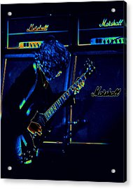 Ac Dc Electrifies The Blues Acrylic Print by Ben Upham