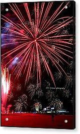 Ac Fireworks Acrylic Print