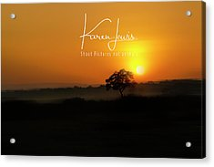Acrylic Print featuring the photograph Acacia Tree Sunrise by Karen Lewis