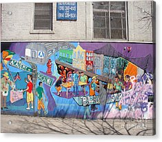 Academy Street Mural Acrylic Print