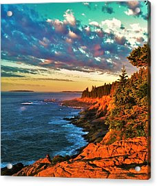 Acadia At Dawn Acrylic Print