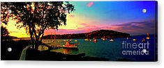 Acrylic Print featuring the photograph  Acadia Bar Harbor Sunset Cruises by Tom Jelen