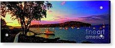 Acadia Bar Harbor Sunset Cruises.tif Acrylic Print