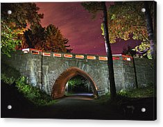Acadia Carriage Bridge Under The Stars Acrylic Print