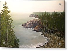 Acadia Maine Morning Mist Acrylic Print
