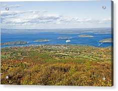 Acadia National Park In Autumn, Maine Acrylic Print by James Forte