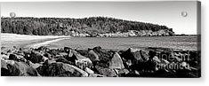 Acadia National Park Sand Beach Acrylic Print by Olivier Le Queinec