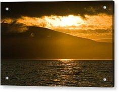 Acadia National Park Sunset Acrylic Print by Sebastian Musial