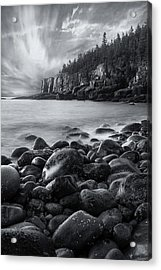 Acadia Radiance - Black And White Acrylic Print