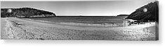 Acadia Sand Beach Panorama Acrylic Print