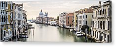Accademia Bridge Acrylic Print by Marco Missiaja