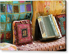 Accordion  With Colorful Pillows Acrylic Print