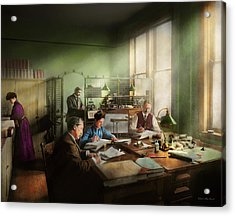 Acrylic Print featuring the photograph Accountant - The- Bookkeeping Dept 1902 by Mike Savad