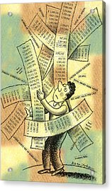 Accounting And Bookkeeping Acrylic Print by Leon Zernitsky