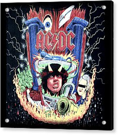 Acrylic Print featuring the digital art Acdc by Gina Dsgn