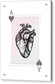 Ace Of Hearts Acrylic Print