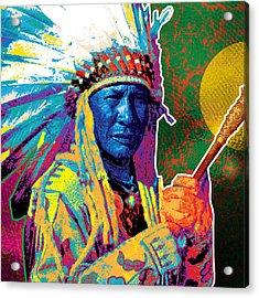 Aceca Indian Chief Acrylic Print