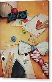 Aces And Jacks Acrylic Print by Lorraine Ulen