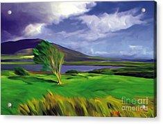 Achill Island Ireland  Sunny Acrylic Print by Bob Salo
