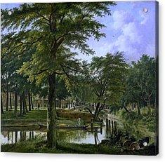 acht bij het Bolwerk te Haarlem Acrylic Print by Hendriks