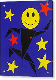 Acid Jazz Acrylic Print by Oliver Johnston