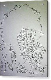 Acid Trip Jimi Acrylic Print