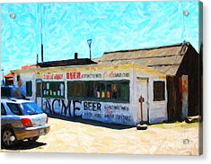 Acme Beer At The Old Lunch Shack At China Camp Acrylic Print by Wingsdomain Art and Photography