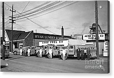 Acrylic Print featuring the photograph Acme Fuel Crew And Trucks by Merle Junk