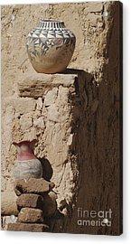 Acoma Pueblo Pottery Acrylic Print by Debby Pueschel