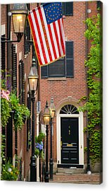 Acrylic Print featuring the photograph Acorn Street by Caroline Stella