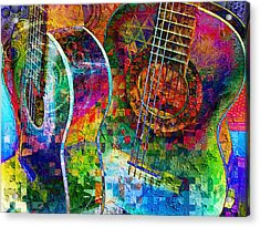 Acoustic Cubed Acrylic Print