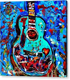 Acoustic Love Guitar Acrylic Print