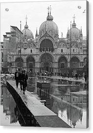 Acqua Alta, Piazza San Marco Acrylic Print