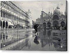 Acqua Alta, Piazza San Marco, Venice, Italy Acrylic Print
