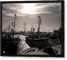 Acrylic Print featuring the photograph Acre  Fishing Port by Arik Baltinester
