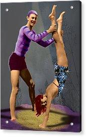 Acrobats Acrylic Print by Max Scratchmann
