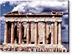 Acrylic Print featuring the photograph Acropolis Of Greece by Linda Constant
