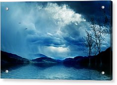 Across The Clouds I See My Shadow Fly  Acrylic Print