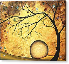 Across The Golden River By Madart Acrylic Print by Megan Duncanson