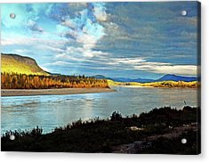 Across The Liard Acrylic Print by Marty Koch