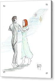 Across The Night...sketch Acrylic Print by Robert Meszaros