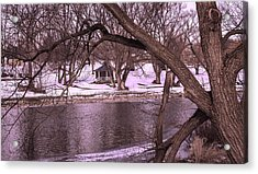 Across The River Acrylic Print by Anne Witmer