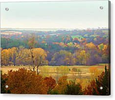 Across The River In Autumn Acrylic Print